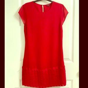 Ted Baker Red Shift Dress UK size 1 US 2/4